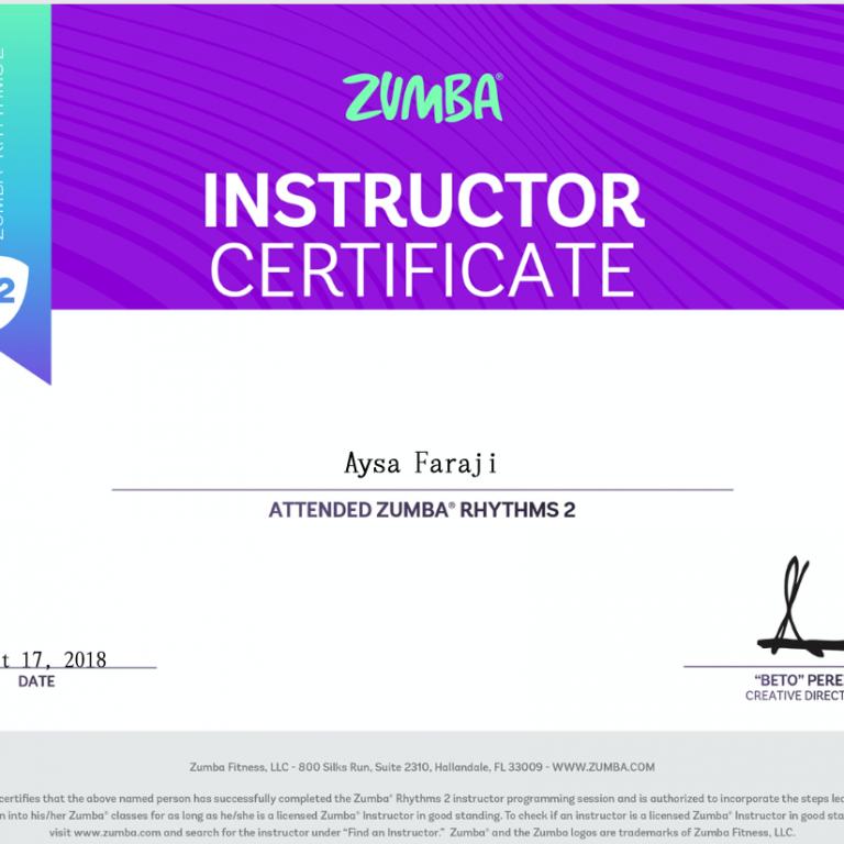 Certificaat Aysa 2