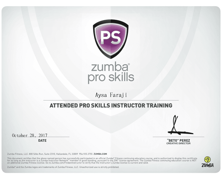 Aysa_Faraji-Zumba_Pro_Skills