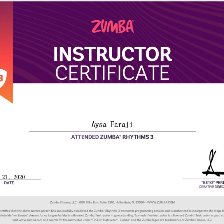 Certificaat Aysa 3