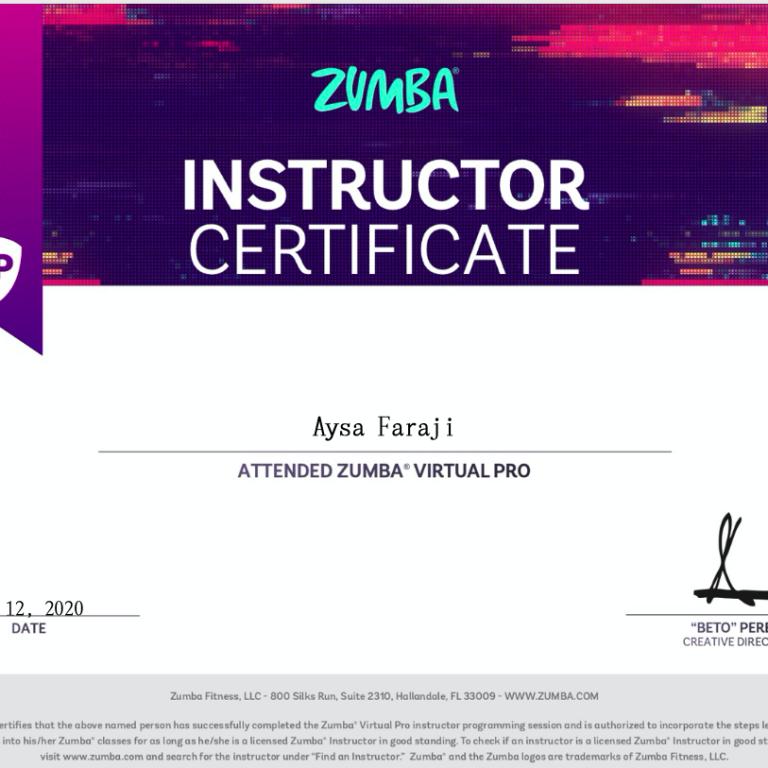 Certificaat Aysa 4